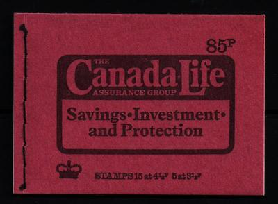 Dw1 Stitched Booklet 85P  Canada Life Sept 1974 Very Good Condition