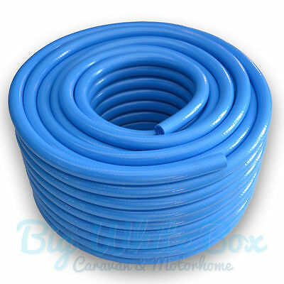 "12mm (1/2"") Fresh Water Non Toxic Food Grade Hose Pipe BLUE – Caravan Motorhome"