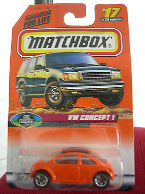 Matchbox VW Concept 1 Orange