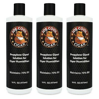 16 oz Propylene Glycol PG Solution for Cigar Humidors - 3 PACK - Joe Cool Cigar