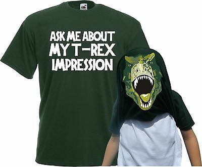 Kids Ask Me About My T-Rex Flip T-Shirt - Kids Monster Gift T Shirt