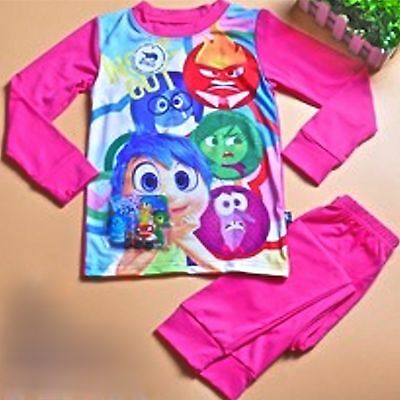 Kids Girls Pyjamas Sets,Cotton Sleepwear Loungewear Long Sleeves Nightwear,2,4,6