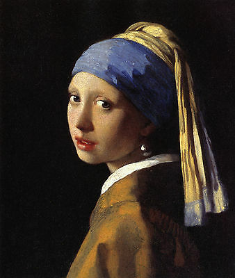 Johannes Vermeer : The Girl With A Pearl Earring : 24 Inch Canvas Fine Art Print