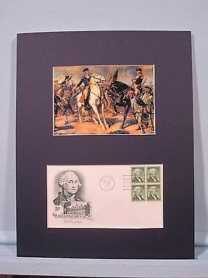 George Washington and Charles Lee at the Battle of Monmouth & First day Cover