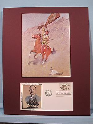 """If Skulls Could Speak"" painted by Frederic Remington & First Day Cover"