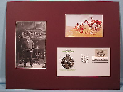 """The Smoke Signal"" painted by Frederic Remington & First Day Cover"