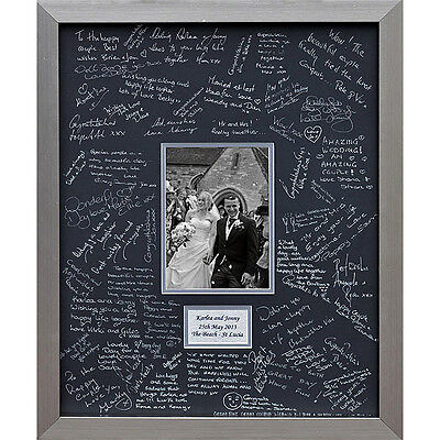 Luxury and Large Personalised Wedding Guest Book Frame – Double Mounted