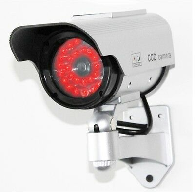 Dummy Security Camera - SOLAR FAKE CCTV CAMERA RED LED POWER LIGHTS