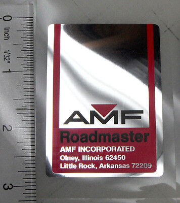 "AMF ""Roadmaster"" badge decal"