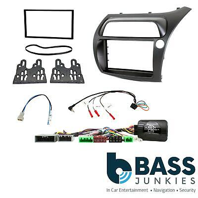 Honda Civic 2006 Car Stereo Double Din Fascia & Steering Wheel Interface Kit