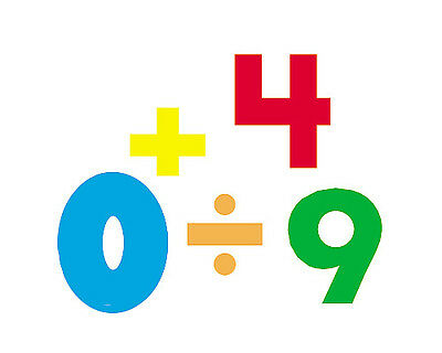 800 Numbers - Colourful Trend SuperShapes Number Stickers and Math Symbols
