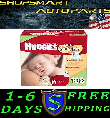 Huggies Little Snugglers Diapers Newborn Up To 10 Lbs 108 Ct Disposable Diapers