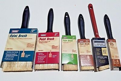Set Of 6 Professional Synthetic Paint Brush Assortment Set Of 6 Variety Mix