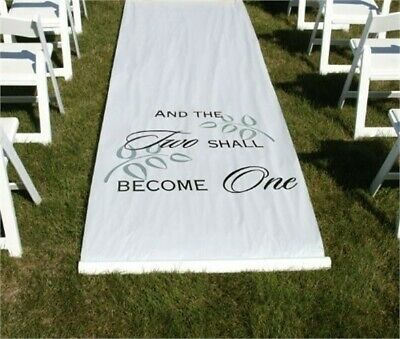 NEW Two Shall Become One Aisle Runner White Wedding Hortense B Hewitt