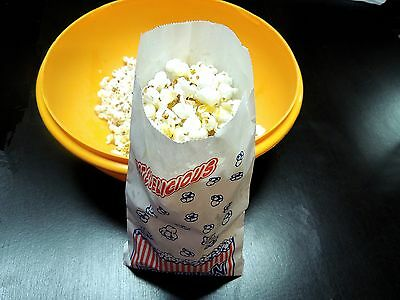 25 Popcorn Bags, Concession bags, Grease resistant bags, Food Safe Treat bags