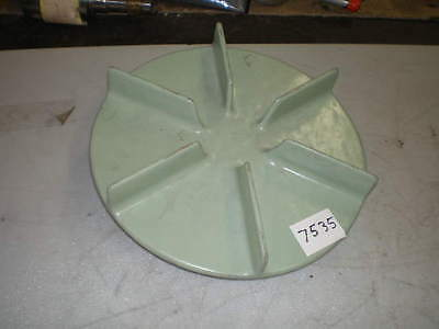"Flowserve Green Poly Pump Impeller #12F08 #D6 50458A 12"" OD 1-1/8"" Shaft (NEW)"