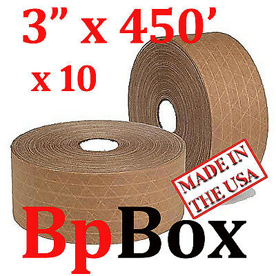"10 SEALING Reinforced TAPE ROLL TAN KRAFT 3""  X 450'"