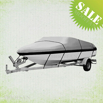 20'-22' Trailerable Fishing Bowrider Bass Boat Cover Waterproof Heavy Duty MBT3H