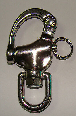 """3.45"""" 316# Stainless steel swivel snap shackle Marine Boat Sailing Yacht SS029"""