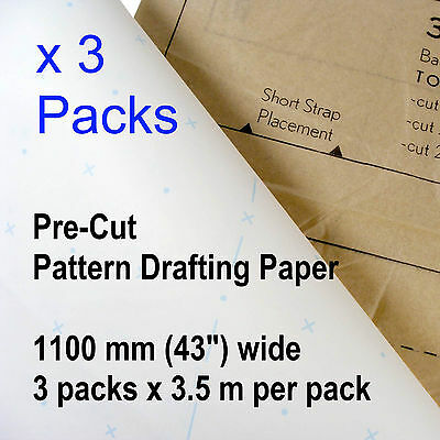Patternmaking Paper x3 packs Pattern Making Drafting Sewing Patterns dressmaking