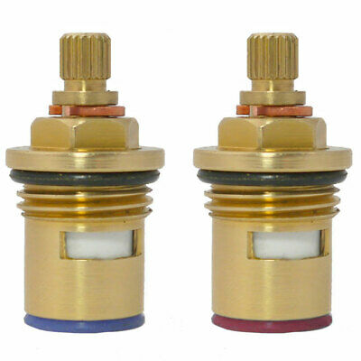 Replacement ceramic disc cartridges tap valves quarter turn 20 hot cold 43mm