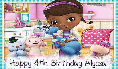 Doc MCSTUFFINS Edible Icing Image Birthday CAKE Topper 1/2 SHEET
