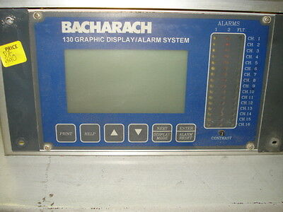 Bacharach 130 Graphic Display/ Alarm System, Comes W/ 10 Modules #5B32