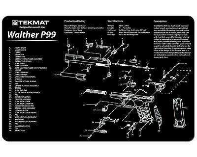 Walther P99 Gun Cleaning Mat by TEKMAT with Neoprene Rubber Backing