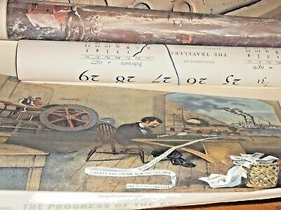Vintage 1960,70,80 Currier & Ives Wall Calendars Travelers Insurance Co lot 24