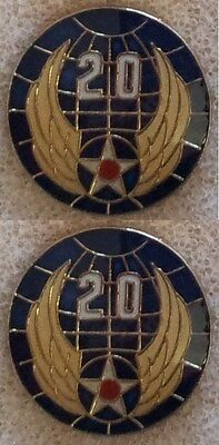 Brand New U.S. ARMY AIR CORPS 20TH AIR FORCE (style #2) Set of 2 Lapel Pin