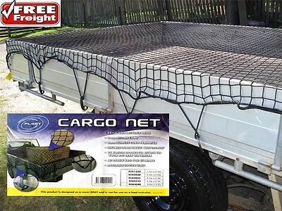 Cargo Net Ute Trailer Boat 3m x 4m Bungee Cord 35mm Square Mesh Safe & Legal