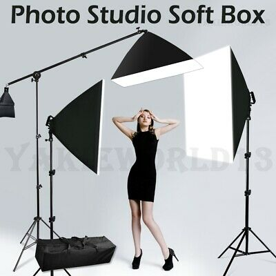 3425W Photography Continuous Softbox Lighting Soft Box Boom Arm Light Stand Kit