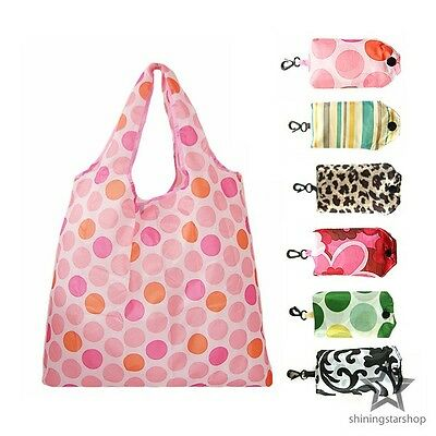 Eco Friendly Reusable Shopping Bag Recycle Foldable Nylon Grocery Tote 6 Colors