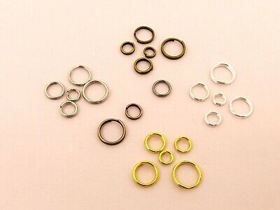 100 x Double Loop SPLIT Open JUMP RINGS Connector Findings  ~ 4mm - 12mm ~