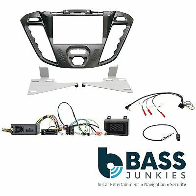Ford Transit Custom 2012 On Car Stereo Double Din Facia Steering Wheel Interface