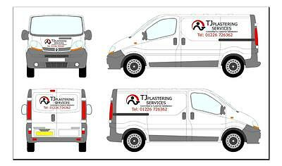 Vehicle Graphics Sign Writing Van Signing D.i.y Lettering Stickers Custom Made
