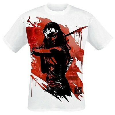 Michonne Samurai The Walking Dead Zombie Horror T-Shirt TV Männer Mens Offiziell