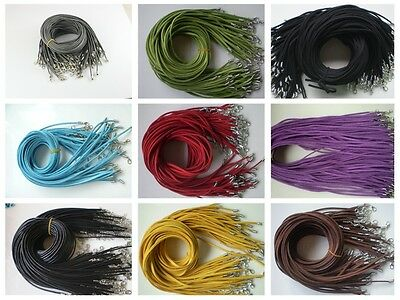 Wholesale 10pcs Bulk lot Multi-color Suede Leather String 20 inch Necklace Cords