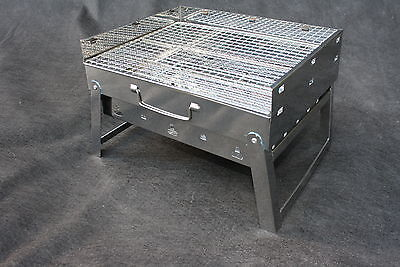 Outdoor Portable Compact Stainless Steel Charcoal Grill Kebab Barbecue Shashlik