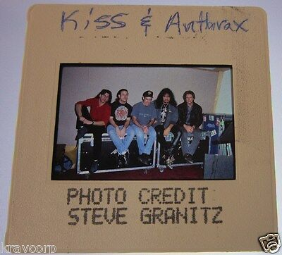 ANTHRAX/GENE SIMMONS—1990s COLOR PHOTO SLIDE