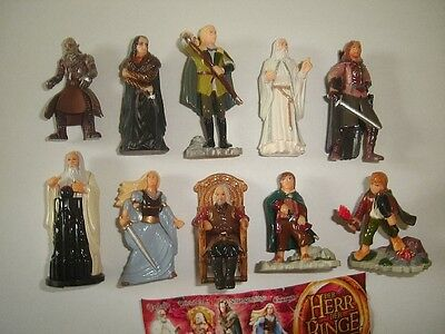 Lord Of The Rings 2 Lotr Kinder Surprise Figures Set -  Figurines Collectibles