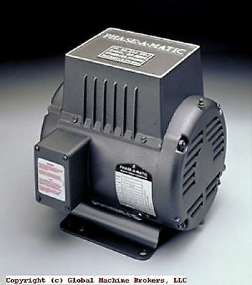 NEW---PHASE-A-MATIC Rotary Phase Converter R-7, other sizes available - Discount