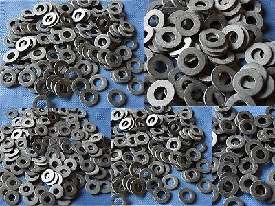 MIXED BLACK RUBBER SEALING WASHERS 3mm 4mm 5mm 6mm 8mm PACK OF 10 FREE POSTAGE