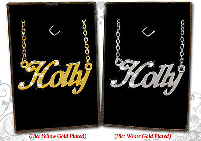 Name Necklace HOLLY 18k Gold Plated Personalized Gifts Fashion Jewelry