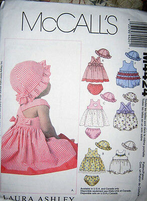 20d1e73d886 MCCALL S SEWING PATTERN 4424 Laura Ashley S-Xl Baby Dresses Rompers ...