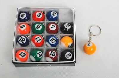 NEW Lot of 10 Set Billiard Key Chain Total 16 Key Chain per Set Free Shipping