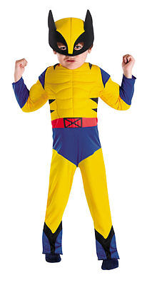 Superhero Squad Wolverine X-Men Toddler Muscle Costume Size 3T - 4T NWT 50124