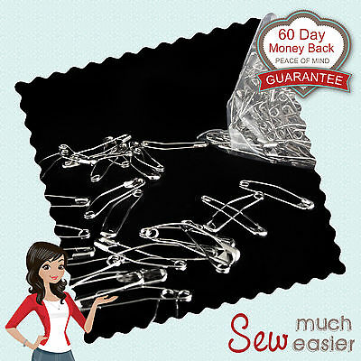 Curved Safety Pins 37mm x 600 pcs Basting Quilt Patchwork quilting sewing quilts