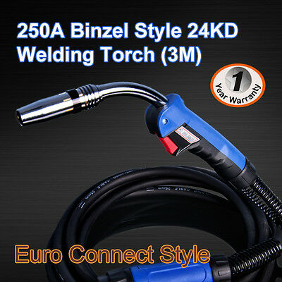 Binzel 24KD MIG/MAG/CO2 Welding Torch Euro Connector 3M (Air - Cooled)