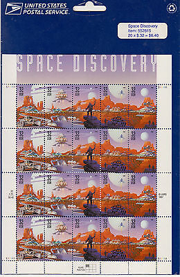 Space Discovery Stamp Sheet, Scott # 3238-42. In USPS wrapper.